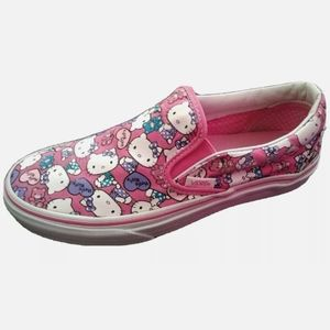 Hello Kitty Vans Pink Slip On Shoes Size 7